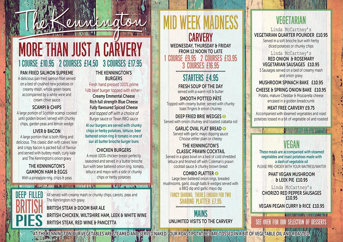 Mid-week menu