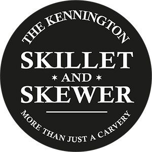 The Skillet and Skewer Logo linked to home page